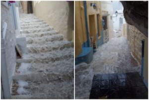 Αντίνοος: Αγριεύει ο καιρός – Οι πρώτες εικόνες από Κυκλάδες και Θεσσαλία – Πλημμύρες και καταρρακτώδεις βροχές!