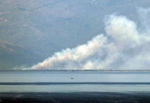 Φωτιά στη Θάσο: Έβλεπαν τον καπνό από την Καβάλα [pics]