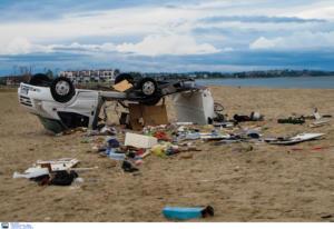 Χαλκιδική: Αυτό είναι το τροχόσπιτο του θανάτου στην Σωζόπολη – Ο τυφώνας τους στοίχισε τη ζωή [pics, video]