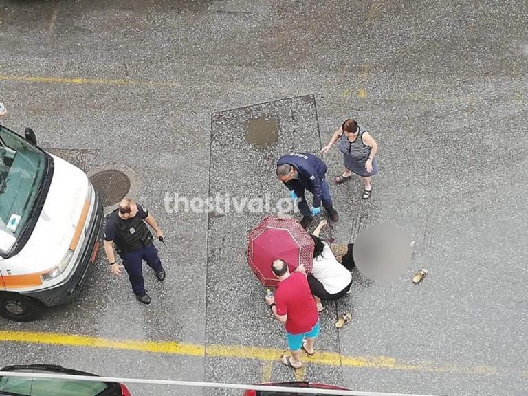 Θεσσαλονίκη: Άνδρας επιτέθηκε και τραυμάτισε γυναίκα με τσεκούρι [pics]