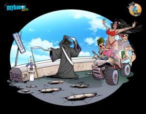 """Μύκονος: Το σκίτσο που πρέπει να προβληματίσει – Ο """"τροχονόμος"""" και η αποτύπωση της πραγματικότητας!"""