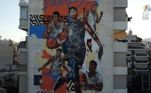Εκπληκτικό! Η οικογένεια Αντετοκούνμπο έγινε ένα τεράστιο graffiti σε πολυκατοικία