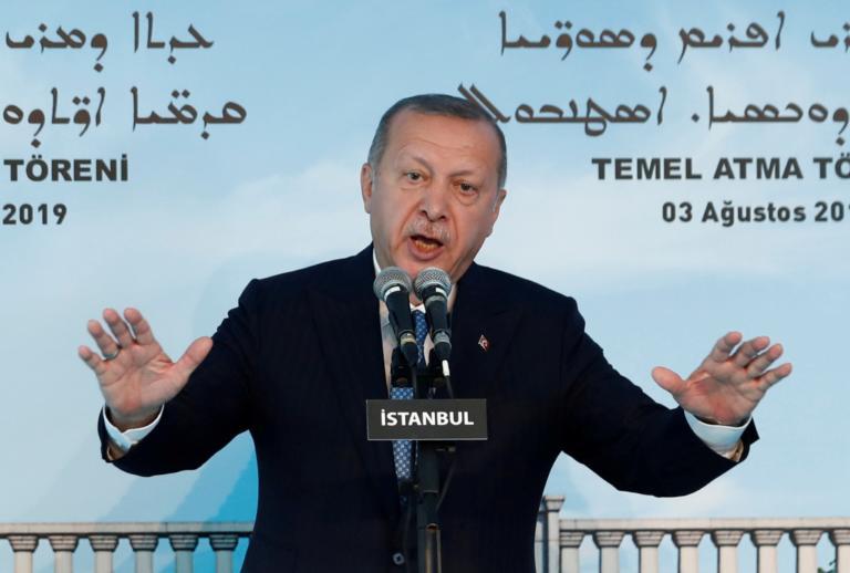Ερντογάν: Με δικό μας σχέδιο στη Συρία αν δεν εφαρμοστεί η ζώνη ασφαλείας