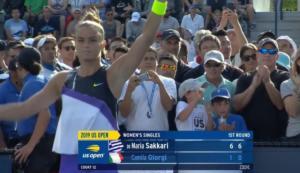 """US Open: """"Αγριεμένη"""" Σάκκαρη! Έκανε… σκόνη την Τζιόρτζι – video"""