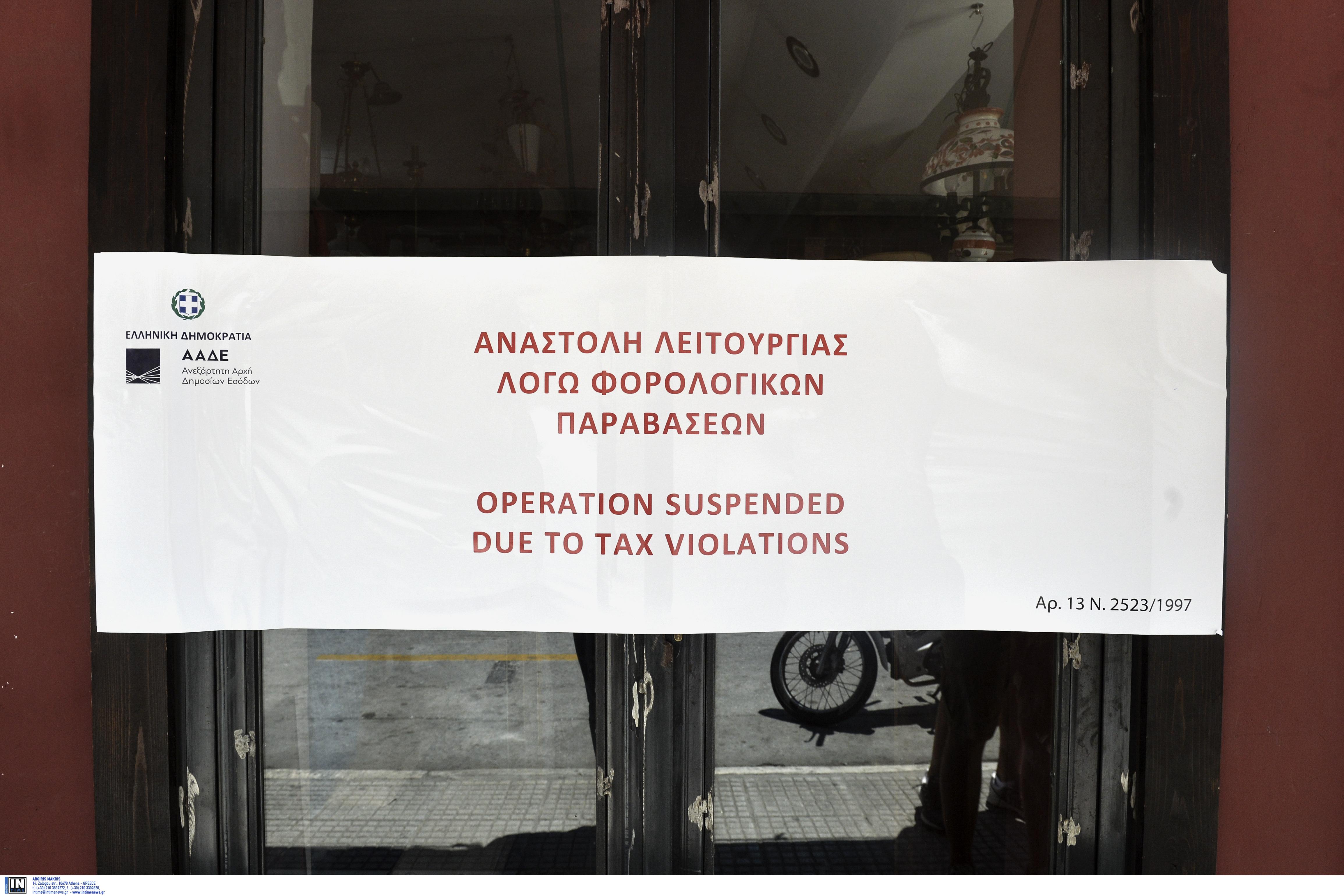 ΑΑΔΕ: Λουκέτο σε πασίγνωστο κέντρο διασκέδασης της Πάτρας