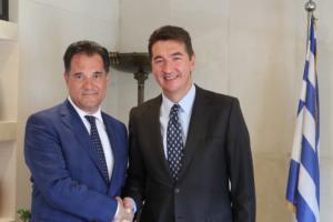 Συνάντηση Γεωργιάδη με τον Πρέσβη της Σερβίας