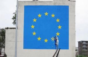 Εξαφανίστηκε το γνωστό έργο του Banksy για το Brexit [pics]