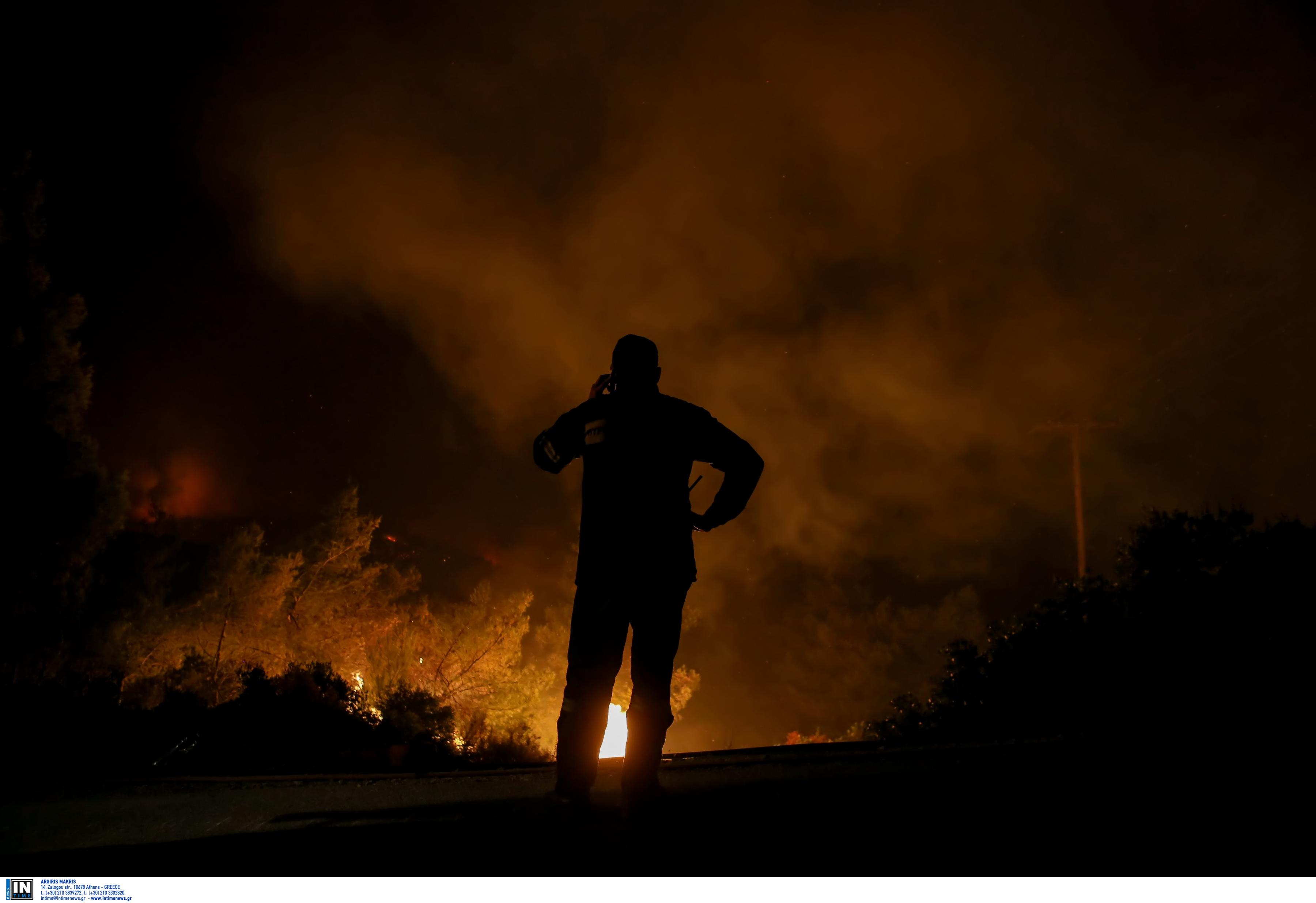 Σε ύφεση η φωτιά στον Διόνυσο