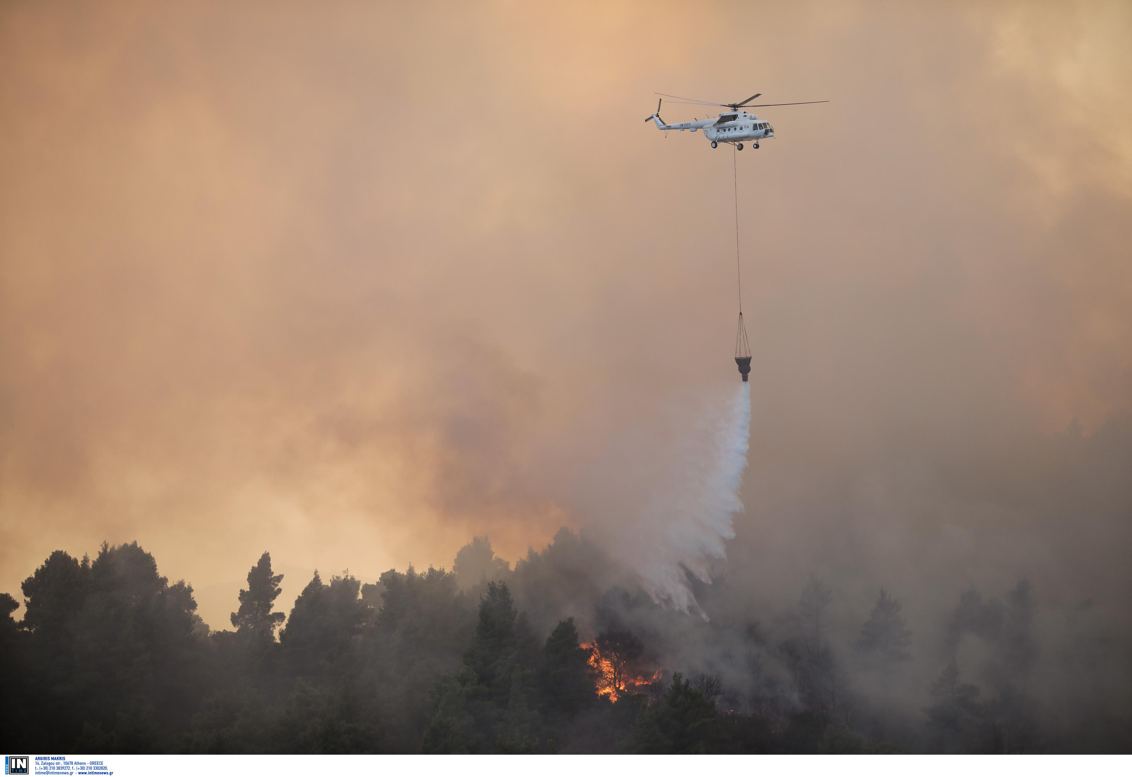 Φωτιά στη Σαλαμίνα – Προληπτική εκκένωση οικισμού