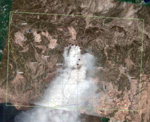 Εύβοια: Η δορυφορική απεικόνιση της φωτιάς από την υπηρεσία Copernicus