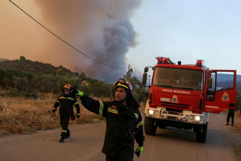 Εύβοια: Τιτάνια η μάχη με τις φλόγες όλο το βράδυ – «Έπεσε» ο αέρας