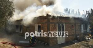 Αμαλιάδα: Ηλικιωμένοι κινδύνευσαν από φωτιά στο σπίτι τους – video, pics