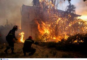 Φωτιά Εύβοια: Συγκλονιστικές εικόνες από την μάχη με τις φλόγες
