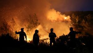 Εύβοια: Ολονύκτια μάχη με τις φλόγες που φτάνουν και τα 20 μέτρα!