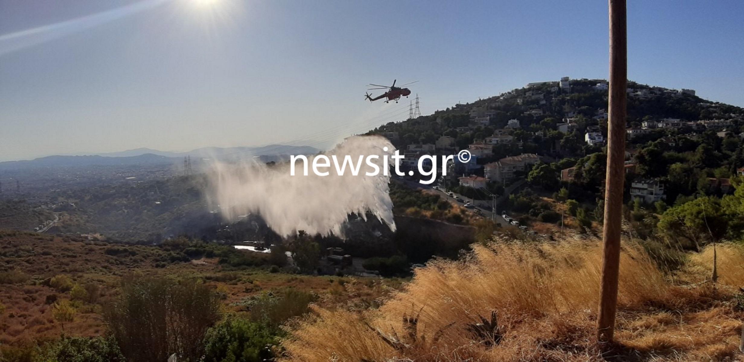 Φωτιά Πεντέλη: Σε ύφεση και οριοθετημένη η φωτιά στην οδό Δουκίσσης Πλακεντίας! Αποκαταστάθηκε η κυκλοφορία