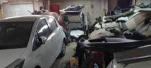 Αστυνομία: Βίντεο από μάντρα δεκάδων κλεμμένων αυτοκινήτων! video