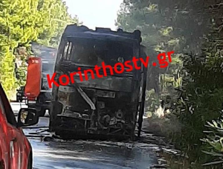 Στις φλόγες λεωφορείο εν κινήσει στην Εθνική Οδό Πρέβεζας – Ηγουμενίτσας!