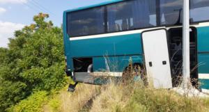 """Λύθηκε το χειρόφρενο λεωφορείου και """"έφυγε"""" προς το γκρεμό!"""