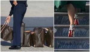 Μελάνια Τραμπ: Διακοπές τέλος! Δεν… χωρούσαν οι βαλίτσες της στο αεροσκάφος!