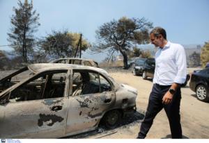 Εύβοια: Στα μέτωπα της φωτιάς ο Μητσοτάκης [pics]