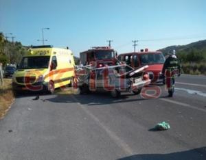 Σοβαρό τροχαίο με δύο τραυματίες στο Ηράκλειο