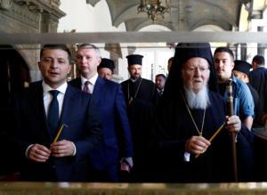 Το Οικουμενικό Πατριαρχείο επισκέφθηκε ο Βολοντιμίρ Ζελένσκι – Συναντήθηκε με τον Βαρθολομαίο [pics]