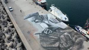 Σάμος: Τα εντυπωσιακά γκράφιτι στον όρμο Μαραθόκαμπου – video
