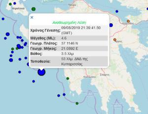 Σεισμός ανοικτά της Κυπαρισσίας