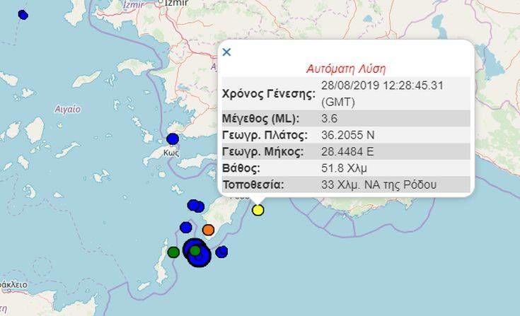 Νέος σεισμός στα Δωδεκάνησα