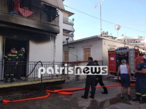 Ηλεία: Στο νοσοκομείο με εγκαύματα 70χρονος που κάηκε το σπίτι του [pics]