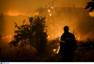Δραματική περιγραφή της φωτιάς στην Εύβοια