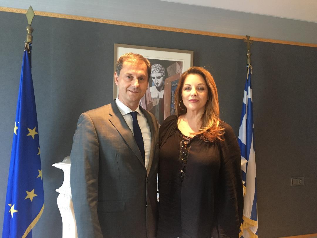 Πρώτη συνάντηση της Άντζελας Γκερέκου με τον υπουργό Τουρισμού