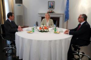 Κύπρος: Κοινή συνάντηση Αναστασιάδη – Ακιντζί υπό την απεσταλμένη του ΓΓ του ΟΗΕ