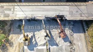 Κυκλοφοριακές ρυθμίσεις στην Αταλάντη – Βίντεο από την κατεδάφιση της γέφυρας