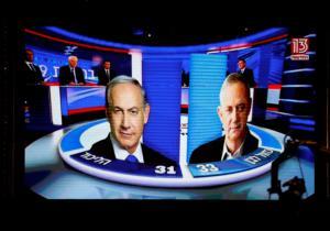 """Ισραήλ – exit poll: """"Μάχη στήθος με στήθος του Νετανιάχου με τον Γκαντζ""""!"""
