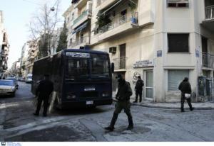 Επιχείρηση της αστυνομίας σε κτίριο υπό κατάληψη