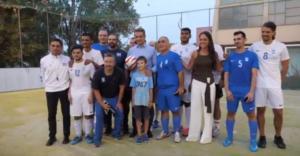 Μητσοτάκης: Στην προπόνηση της εθνικής ομάδας ποδοσφαίρου τυφλών