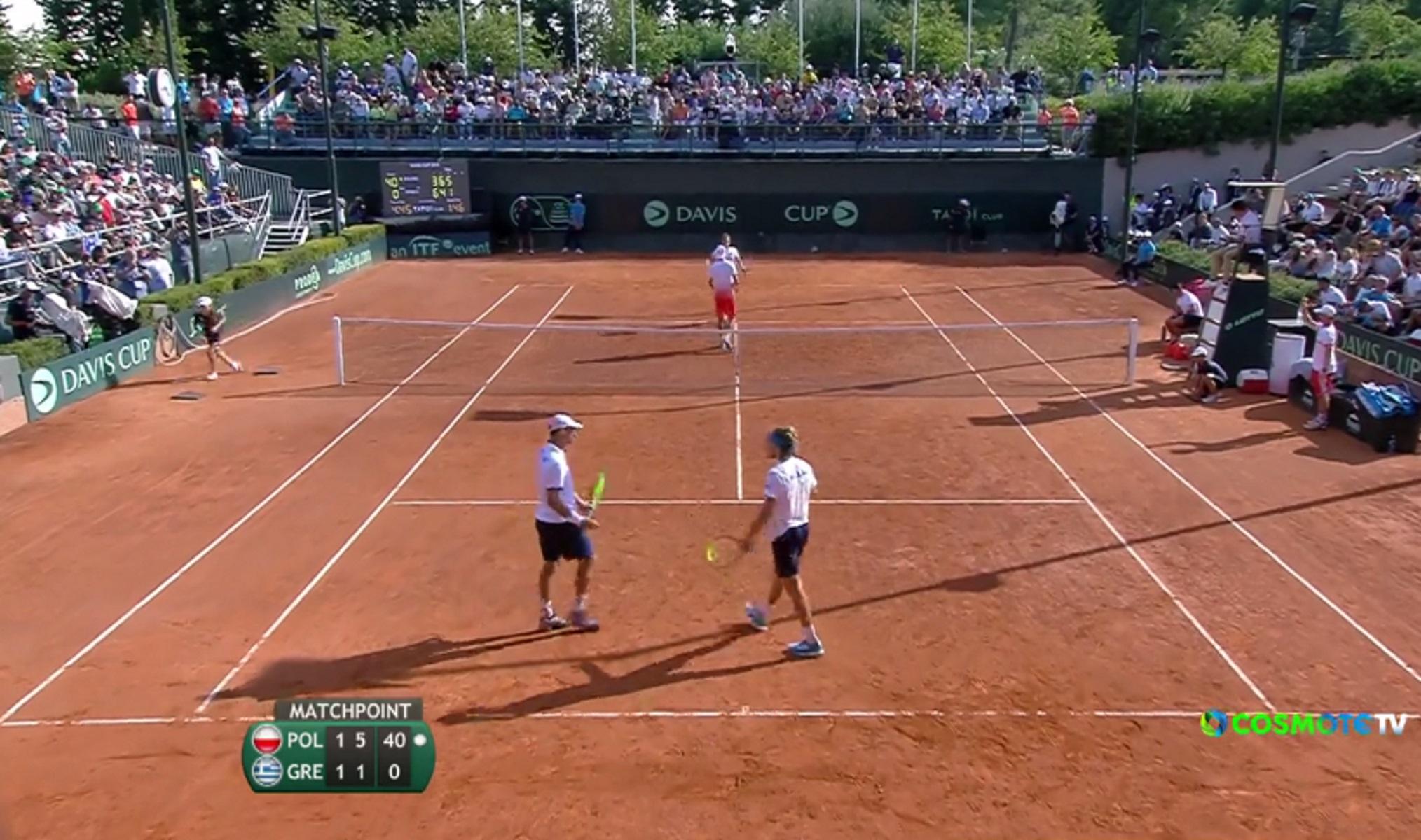 "Davis Cup: Η Πολωνία ""λύγισε"" την Ελλάδα! ""Τελικός"" με Μονακό – video"