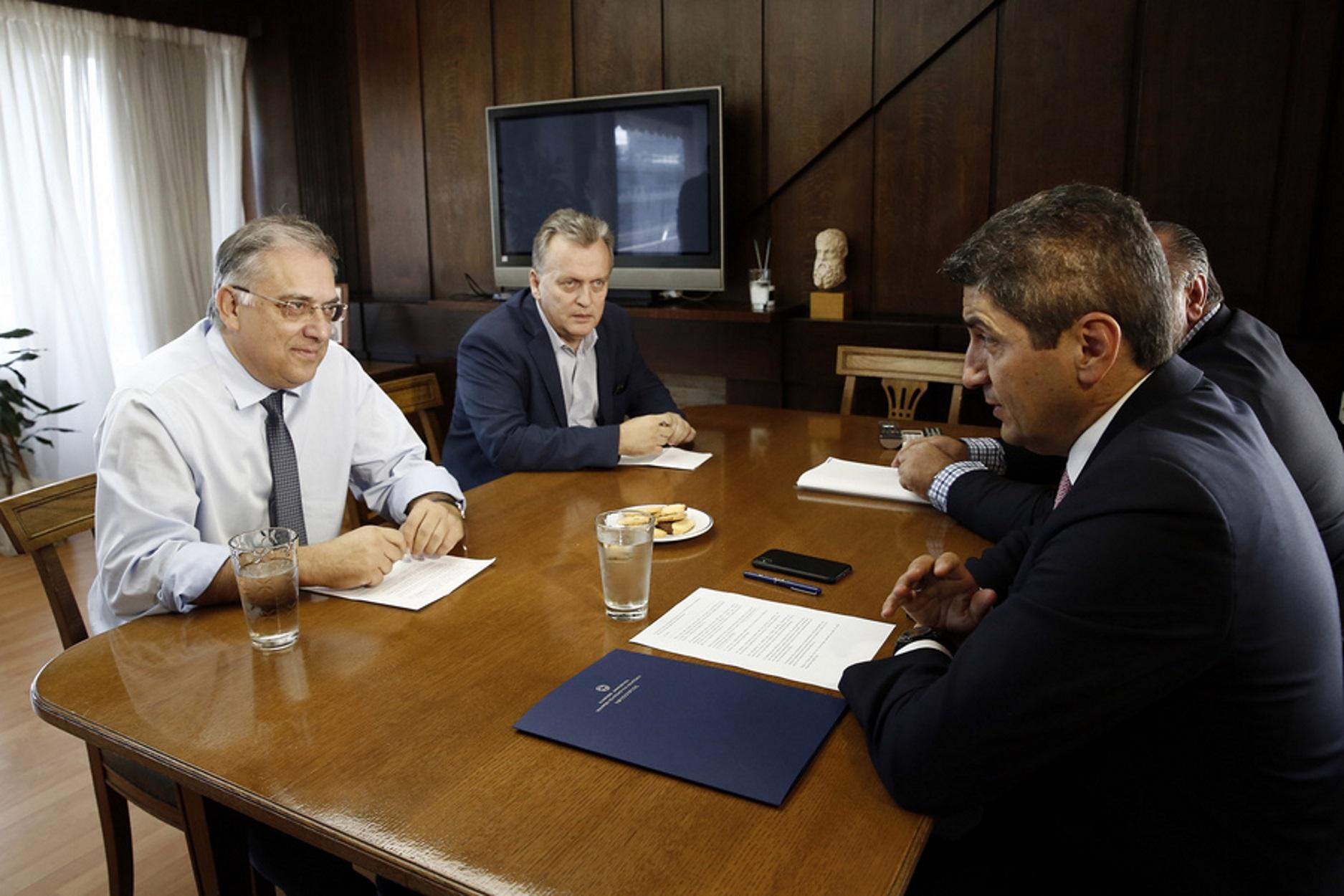 100 εκατ. ευρώ για την ασφάλεια αθλητικών εγκαταστάσεων υποσχέθηκε ο Θεοδωρικάκος στον Αυγενάκη