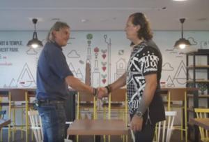 Ράμπο Vs Νίντζα! Μητρόπουλος και Καλιτζάκης μιλούν στον ΟΠΑΠ για το ντέρμπι των «αιωνίων» – video