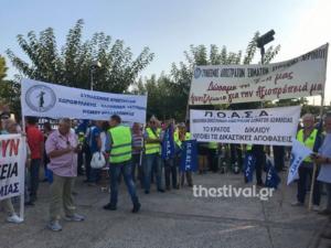 Θεσσαλονίκη: Διαμαρτυρία από ένστολους στο Λευκό Πύργο