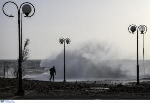 Meteo: Τα 156 χλμ την ώρα έφτασαν οι άνεμοι το Σάββατο