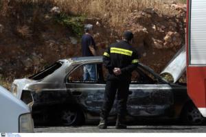 Φωτιά στο Κρυονέρι – Νεκρός άνδρας μέσα σε αυτοκίνητο