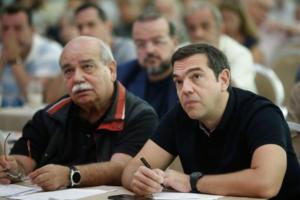 Μια ωραία ατμόσφαιρα στην Κεντρική Επιτροπή του ΣΥΡΙΖΑ! Χαμηλοί τόνοι και από Τσακαλώτο