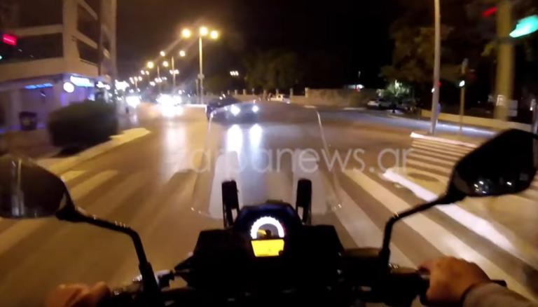 Κρήτη: Παραλίγο να καταγράψει τον θάνατό του – Βίντεο ντοκουμέντο σε διασταύρωση των Χανίων – video