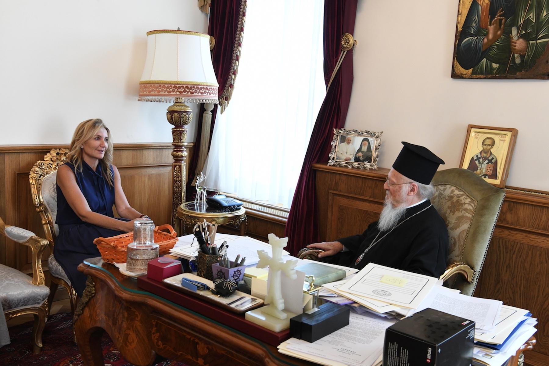 Στο Οικουμενικό Πατριαρχείο η Μαρέβα Γκραμπόφσκι