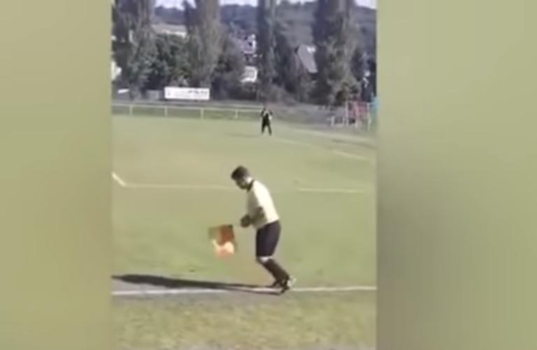«Λιώμα» στο γήπεδο! Μεθυσμένος επόπτης σε αγώνα στην Τσεχία – video