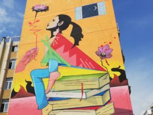 Κοζάνη: Αφιέρωσε χρόνο και έφτιαξε αυτή την τοιχογραφία – Το βλέμμα της γυναικείας μορφής [pics]
