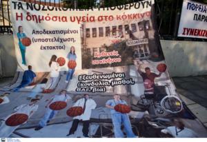 Θεσσαλονίκη: Μπάλες, παντεσπάνι και οικοδομικά υλικά στην πορεία της ΠΟΕΔΗΝ – To μήνυμα στον Κυριάκο Μητσοτάκη – video