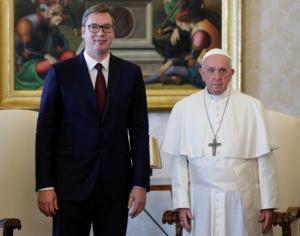 Δεν αναγνωρίζει το Κόσοβο ο πάπας Φραγκίσκος! Τι είπε με τον πρόεδρο της Σερβίας